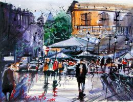 Coffee La Paix watercolor by ricardomassucatto
