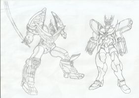 Thunder Dragonzord and Great Mazinkaiser Obari by RyugaSSJ3