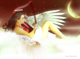 An Angel playing our song... by sassyangel