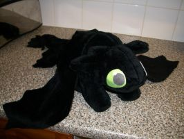 "20"" Toothless Plush - Minky by Sewpoke"