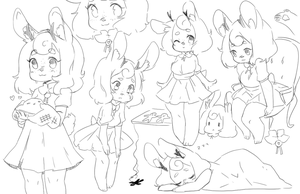 sfw sketch page ChuraGhost by ProofMe