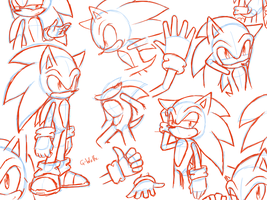 Sonic Sketches by G-Wolfe