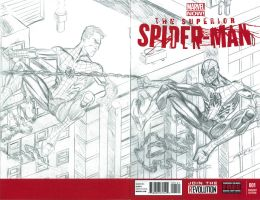 SUPERIOR SPIDER-MAN #1 SKETCH COVER FINAL PENCILS by FanBoy67