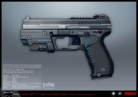 SYNDICATE concept - APP pistol by torvenius