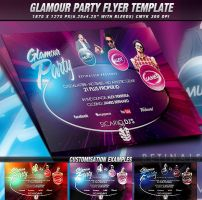 PSD Glamour Party Flyer Template by retinathemes