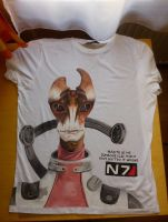 Mordin hand painted T-Shirt by IfWereLost