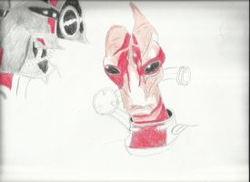 mass effect 3 mordin and legion by gallows70