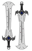 xDivine-Shadow's Dual Swords by NeonBlacklightTH