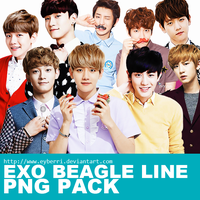 EXO Beagle Line PNG Pack by eyberri by eyberri
