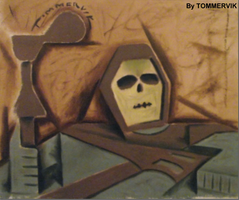 skeletor abstract painting by TOMMERVIK