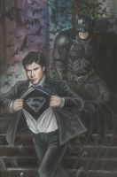 Batman And Clark by HeroArtist20