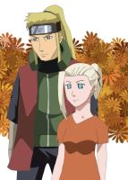 Ino and her father by tootaa18