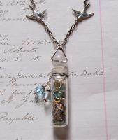 Glass vial necklace by Archaic76