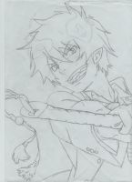 Blue Exorcist- Rin Sketch by Anime-Star-Kilala
