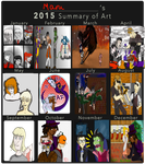 2015 Summary of Art by QweXTheXEccentric