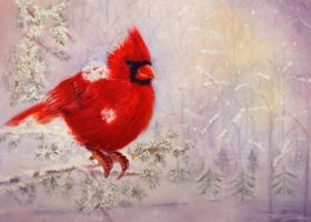 Cardinal In Winter by milbisous