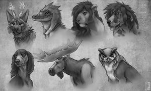 Character Sketches by Serphire