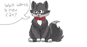Game Show Host Cat by abiggerline