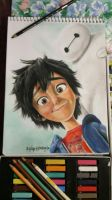 Hiro and Baymax Prismacolor by ThirdPerSona