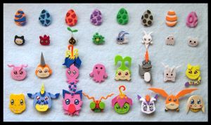 Pins - Adventure Digimon by GwydionAE