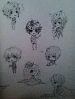 Old chibis from sketchbook by Miivei