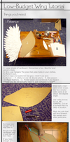 Paper Cosplay Wing Tutorial by le-shae