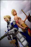 Fate Stay Night - Saber and Gilgamesh by Calssara
