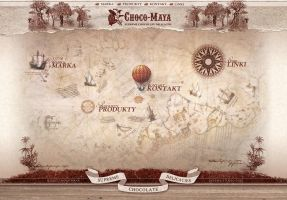 Choco Maya website layout by xaay