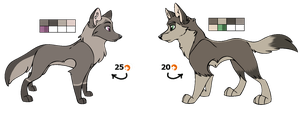 Wolf Adopts Set 1 -CLOSED- by Muffin-Adopts