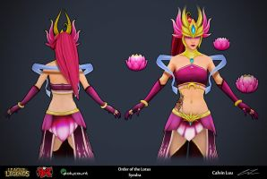 Order of the Lotus - Syndra: Lowpoly Closeup by calvinluu01