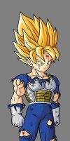 Pre Teen Goku SSJ, In Saiyan Armor by hsvhrt