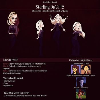 Sterling Audition Poster (Preview) by IsaiahStephens