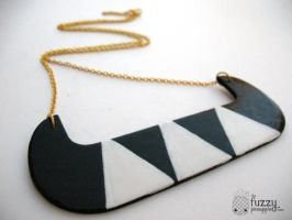 Free Spirit Hand Painted Necklace by TheFuzzyPineapple