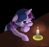 candles are rather bright by Heireau