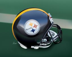 Steelers Helmet by gabedesignz