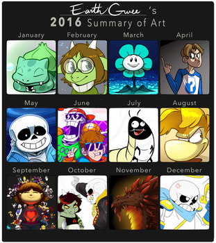 2016 Summary of Art by EarthGwee