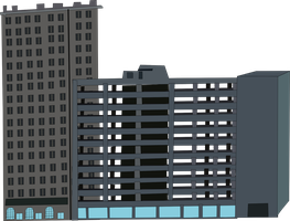 Hotel and Parking Deck by OceanRailroader