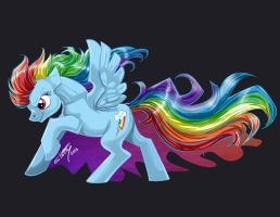 Rainbow Dash Transfer Design by shottsy85