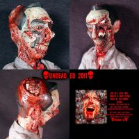 Zombie Pee Wee Herman OOAK by Undead-Art