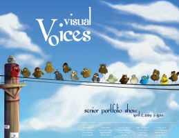Visual Voices Poster by cr-portfolio