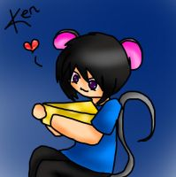 Mouse Ken with cheese by gosetsuke123