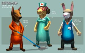 Zoo Island Body Puppets - Skinny Version by freakyfir