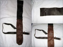 Upper leg LARP dagger sheath by Hellwolve