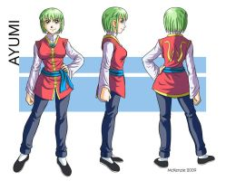 Ayumi character sheet by RedShoulder
