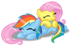 Sleepy Ponies - FlutterDash edition by AleximusPrime