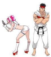 ryu meets girl. by BowenJ
