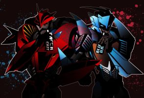 knockout and blurr by gushu009