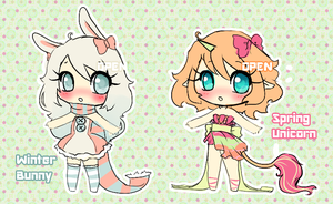 Winter and Spring Adoptables CLOSED by koyame