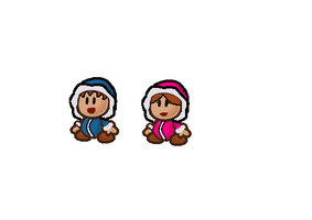 Paper Ice climbers by Frobie-Mangaka