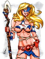 Savage Land Stargirl comm 2 by gb2k